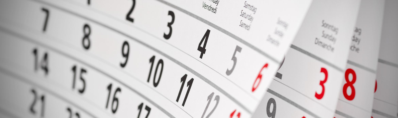 Hojas de un calendario